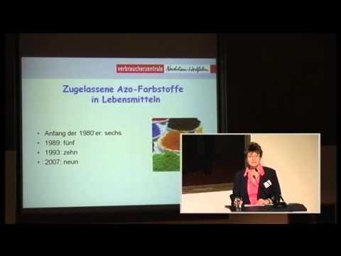 1/3: Angela Clausen: Azofarbstoffe in Lebensmitteln - künftig mit Warnhinweis