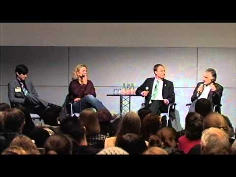 1/2: Karen Duve, Dr. Helmut Kaplan, Sebastian Zösch, Tim Serowski: Podiumsdiskussion / VeggieWorld