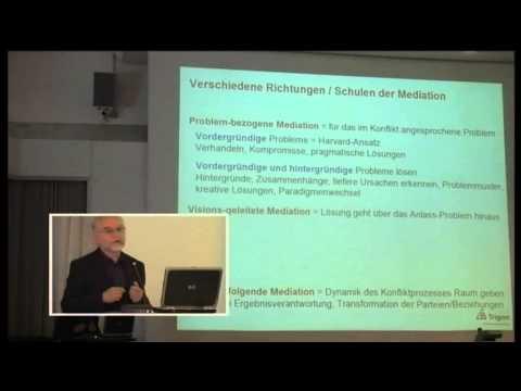 1/4: Dr. Friedrich Glasl: Nachhaltige Konfliktlösung durch Metanoische Mediation