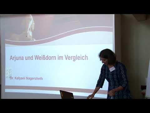 1/2: Dr. K.Nagersheth: Vergleich zwischen Weißdorn und einer ayurvedischen (Arjuna) Herzpflanze