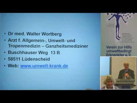 1/2: Dr. med. Walter Wortberg: EHS, MCS, Krebs - Beispiele für Schädigungen durch Metalle