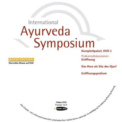 Komplettsatz Video-DVDs des 19. Internationalen Ayurveda-Symposiums 2017 1 DVD-Wissen