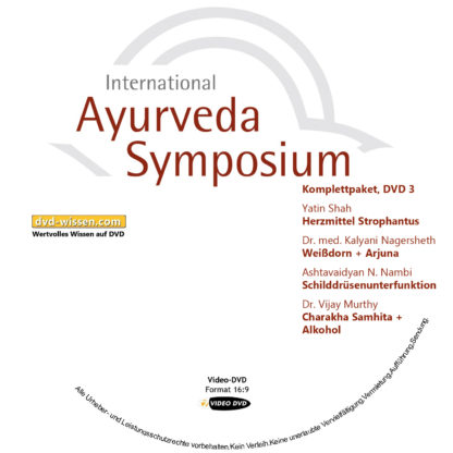 Komplettsatz Video-DVDs des 19. Internationalen Ayurveda-Symposiums 2017 3 DVD-Wissen