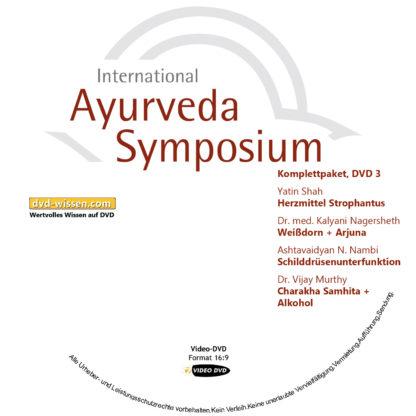 Komplettsatz Video-DVDs des 19. Internationalen Ayurveda-Symposiums 2017 3 DVD-Wissen - Experten Know How