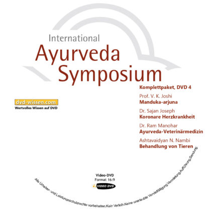 Komplettsatz Video-DVDs des 19. Internationalen Ayurveda-Symposiums 2017 4 DVD-Wissen