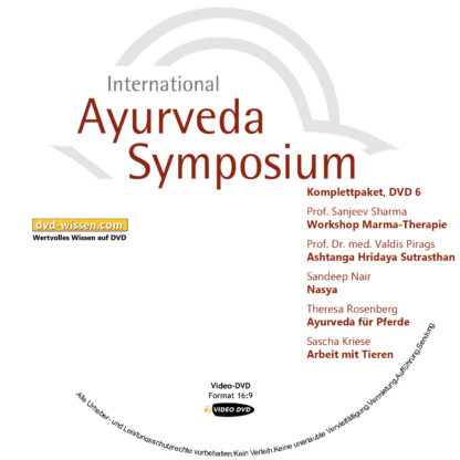 Komplettsatz Video-DVDs des 19. Internationalen Ayurveda-Symposiums 2017 6 DVD-Wissen