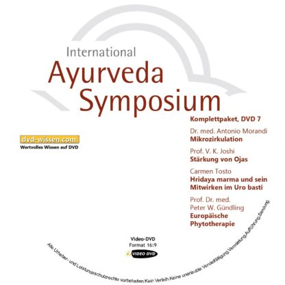 Komplettsatz Video-DVDs des 19. Internationalen Ayurveda-Symposiums 2017 7 DVD-Wissen