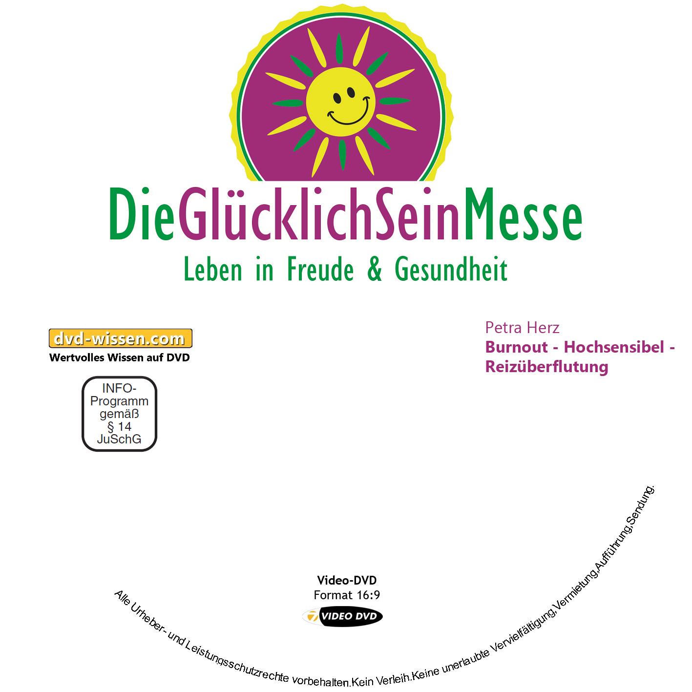 Petra Herz: Burnout - Hochsensibel - Reizüberflutung 1 DVD-Wissen - Experten Know How
