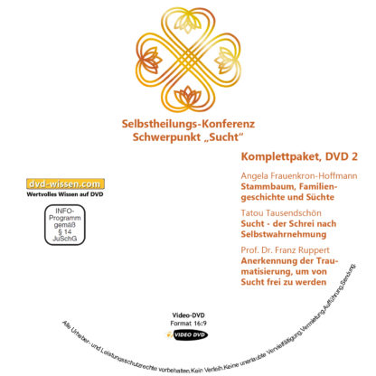 Selbstheilungskonferenz Schwerpunkt Sucht, DVD-Komplettpaket 2 DVD-Wissen - Experten Know How