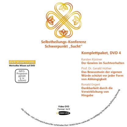 Selbstheilungskonferenz Schwerpunkt Sucht, DVD-Komplettpaket 4 DVD-Wissen - Experten Know How