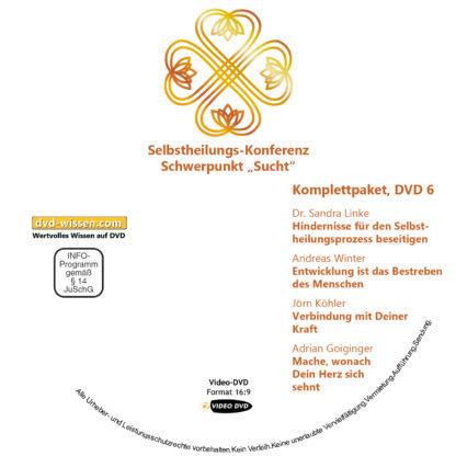 Selbstheilungskonferenz Schwerpunkt Sucht, DVD-Komplettpaket 6 DVD-Wissen - Experten Know How