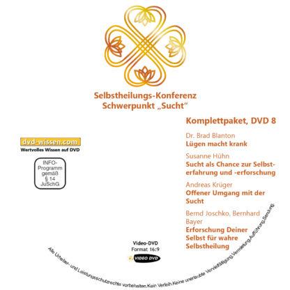 Selbstheilungskonferenz Schwerpunkt Sucht, DVD-Komplettpaket 8 DVD-Wissen - Experten Know How