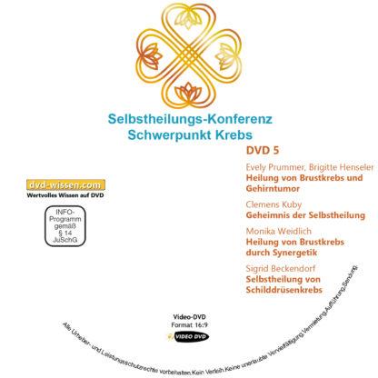 Selbstheilungs-Kongress, Schwerpunkt Krebs, DVD-Komplettpaket 5 DVD-Wissen - Experten Know How