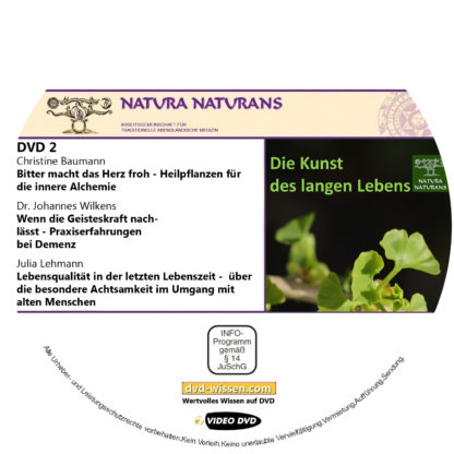 """Komplettpaket """"Die Kunst des langen Lebens"""", Tagung von natura naturans, 2019 2 DVD-Wissen - Experten Know How"""