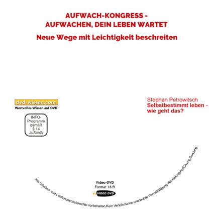 Stephan Petrowitsch: Selbstbestimmt leben - wie geht das? 1 DVD-Wissen - Experten Know How