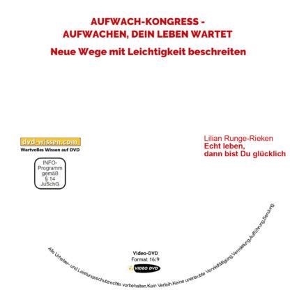 Lilian Runge-Rieken: Echt leben, dann bist Du glücklich 1 DVD-Wissen - Experten Know How
