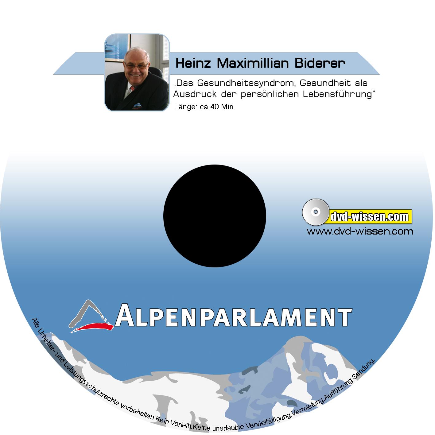 Heinz Maximilian Biderer: Das Gesundheitssyndrom. Gesundheit als Ausdruck der persönlichen Lebensführung