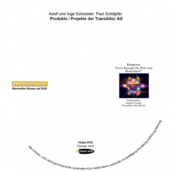 Adolf Schneider, Inge Schneider, Paul Schläpfer: Produkte/Projekte der TransAltec AG