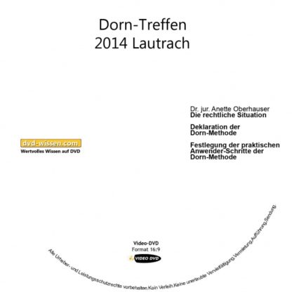 Definition der Methode Dorn beim Dorn-Anwendertreffen in Lautrach 2014