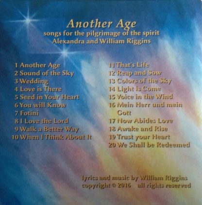 Alexandra und Williiam Riggins: Another Age - Songs for the pilgrimage of the spirit